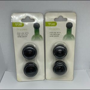 True Stoppers Lot Of 2 Use With Vacuum Wine Saver